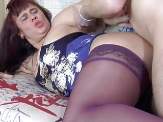 Sexy older mom fucked by a younger man