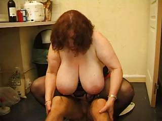 Ultra fat French mature woman gets dicked by skinny pervert