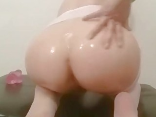 Hardcore Asian amateur blonde banging in a doggystyle