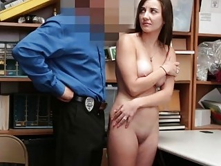 Police punishment with anal for the hot babe