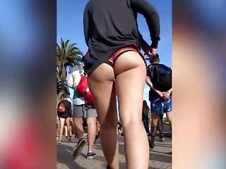Asian with nice ass gets followed on the street