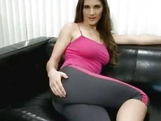 Kinky bukkake slut teases freaks by farting on the sofa