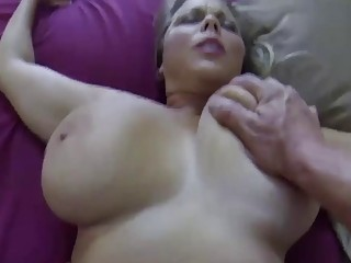 Busty mom with big boobs gets her huge butt fucked