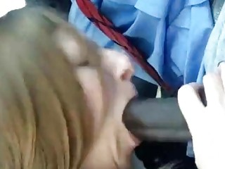 This woman sure can swallow a dick in a cuckold