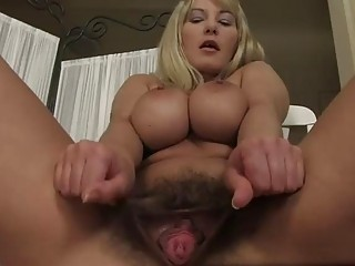 Yummy mom Vanessa Sweets wants her hairy muff double penetrated