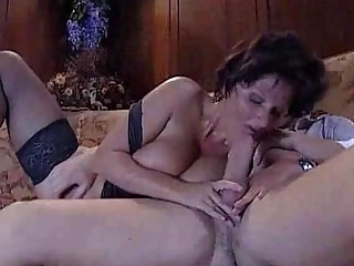 Curvy mature woman loves being double penetrated by a hunk