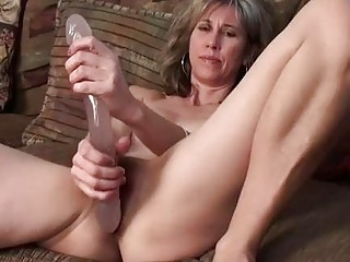 Double penetration with a solo mature British mom
