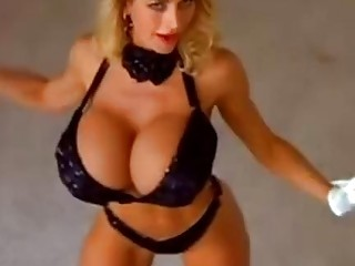 Big tits blonde milf loves to dance naked