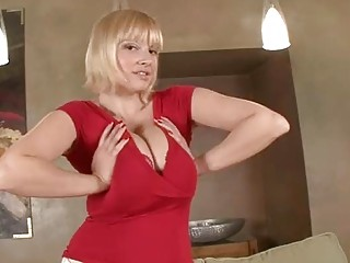 Busty blonde milf loves to tease you