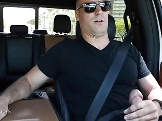 Sexy Sean Lawless jacks off in his car