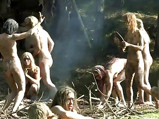 Dirty amateur girls have a wild orgy in the rainforest