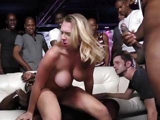 Stupid cuckold watches black guys bang his big breasted woman