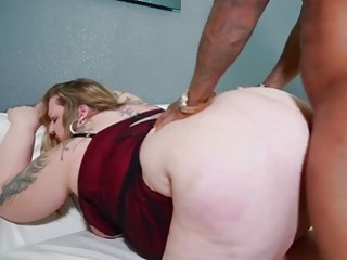 Fat BBW chick gets blacked hard by a deviant thug