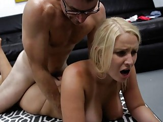 Alluring babe with big tits Vanessa Cage fucks missionary style