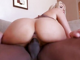 Blond bombshell gets destroyed by a big black cock