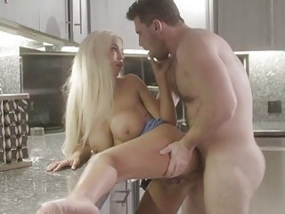 Dude got to fuck a blonde after watching porn