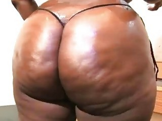 Ebony BBW gets nude and poses