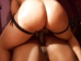 Astonishing big booty ebony chicks use a strapon