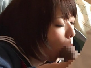Cute Asian babe gets fingered before he fucks her