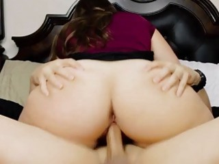 Desirable wife gives a blowjob before she is nailed hard