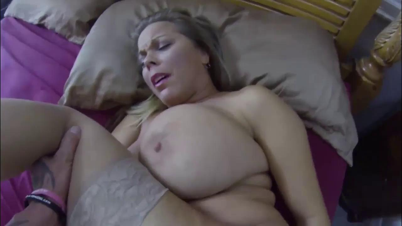 Brunette Milf Huge Fake Tits